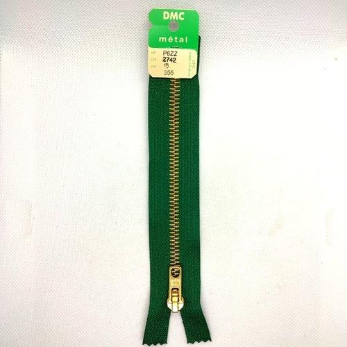 Fermeture éclair - dmc - 15cm - vert 2742 - non séparable - bri