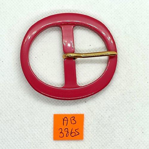 Boucle de ceinture en résine fuschia - 60x55mm - ab3865