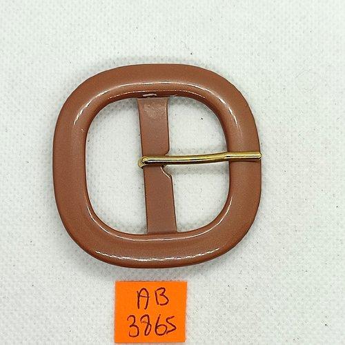 Boucle de ceinture en résine marron - 55x55mm - ab3865