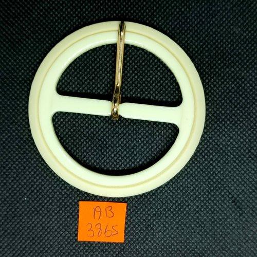 Boucle de ceinture en résine écru - 69mm - ab3865