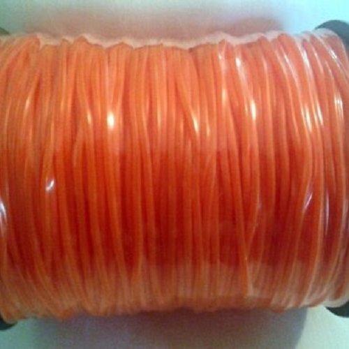 2m cordon caoutchouc orange -  ⌀ 2mm - interieur creux