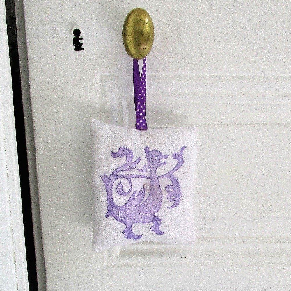 Deco Porte Salle De Bain coussin de porte, décoration, mauve, parme, , diffuseur parfum, décoration  de meuble, shaby chic, salle de bain, lavand