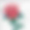 Aquarelle, peinture, rose, décoration,tableau, botanique, fleur, pour sous-verre.