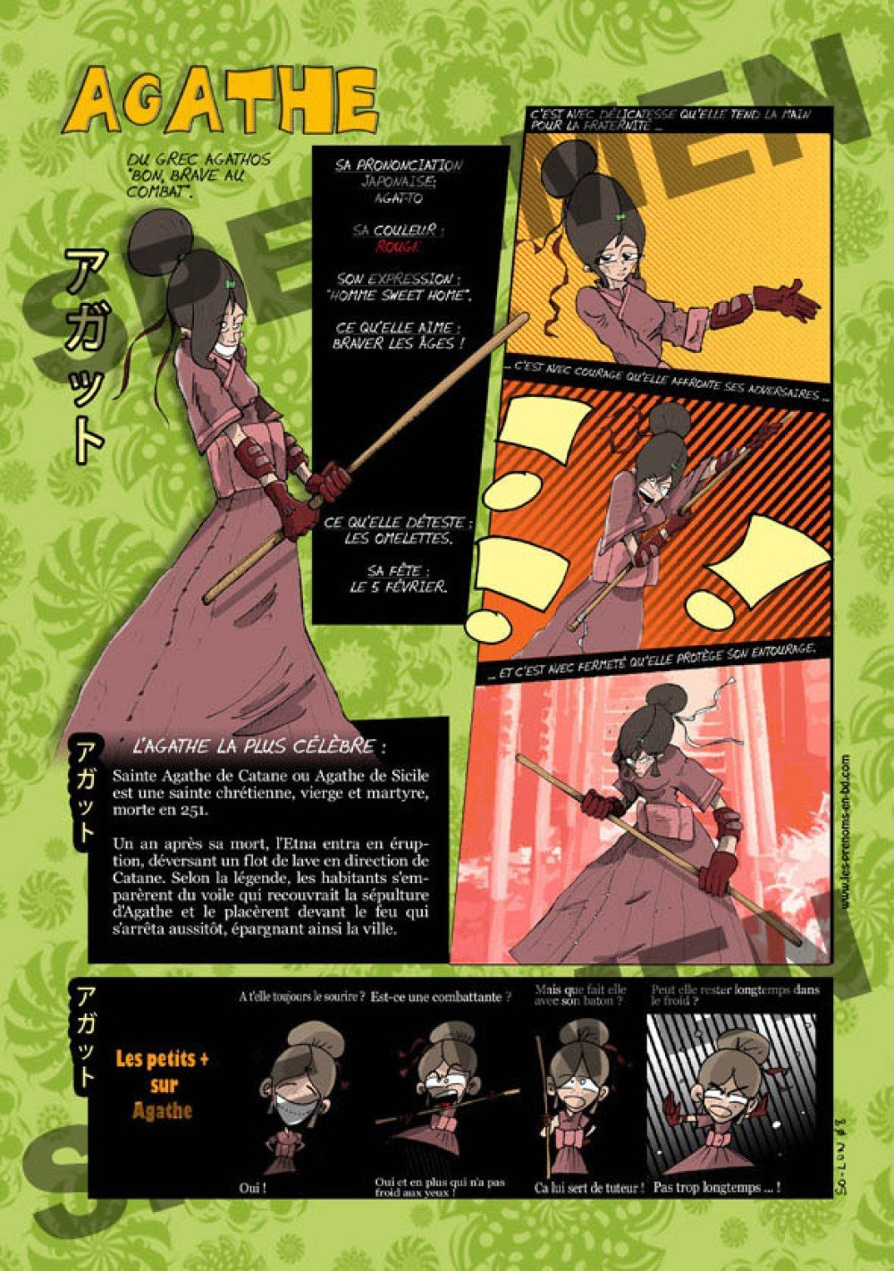 Prénom Manga Agathe