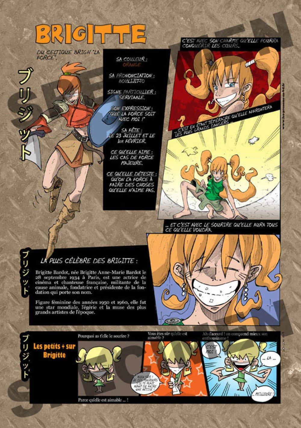 Prénom Manga Brigitte