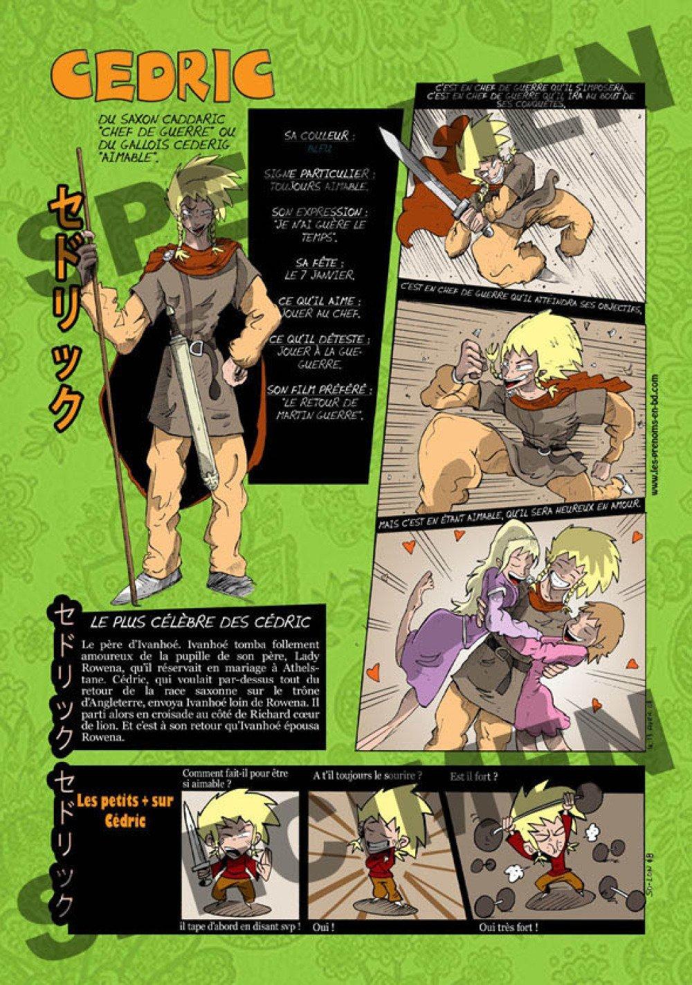 Prénom Manga Cédric