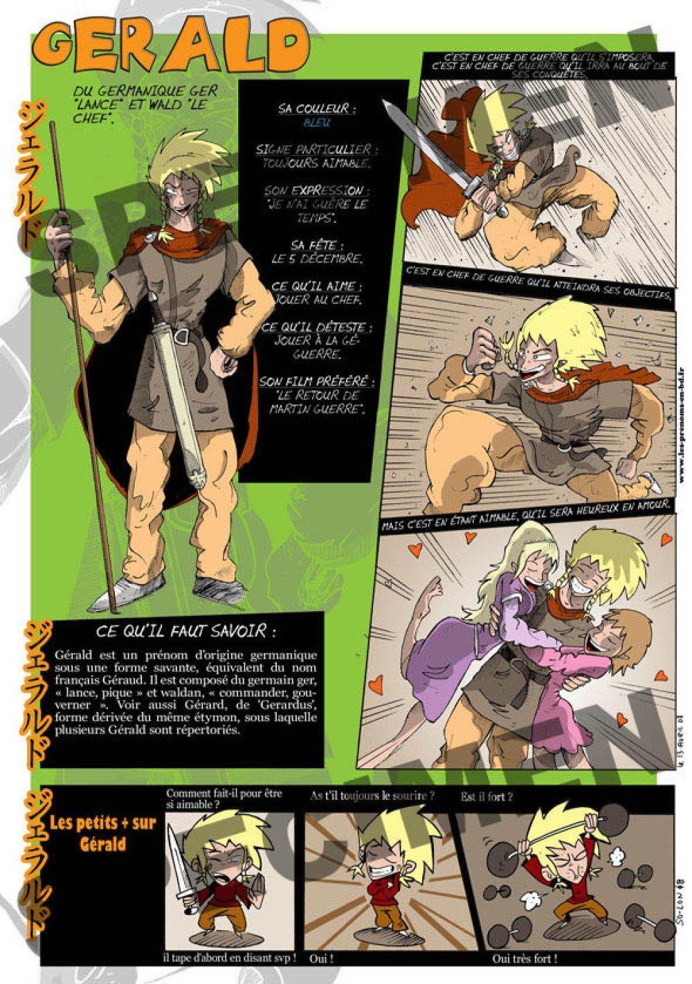 Prénom Manga Gérald