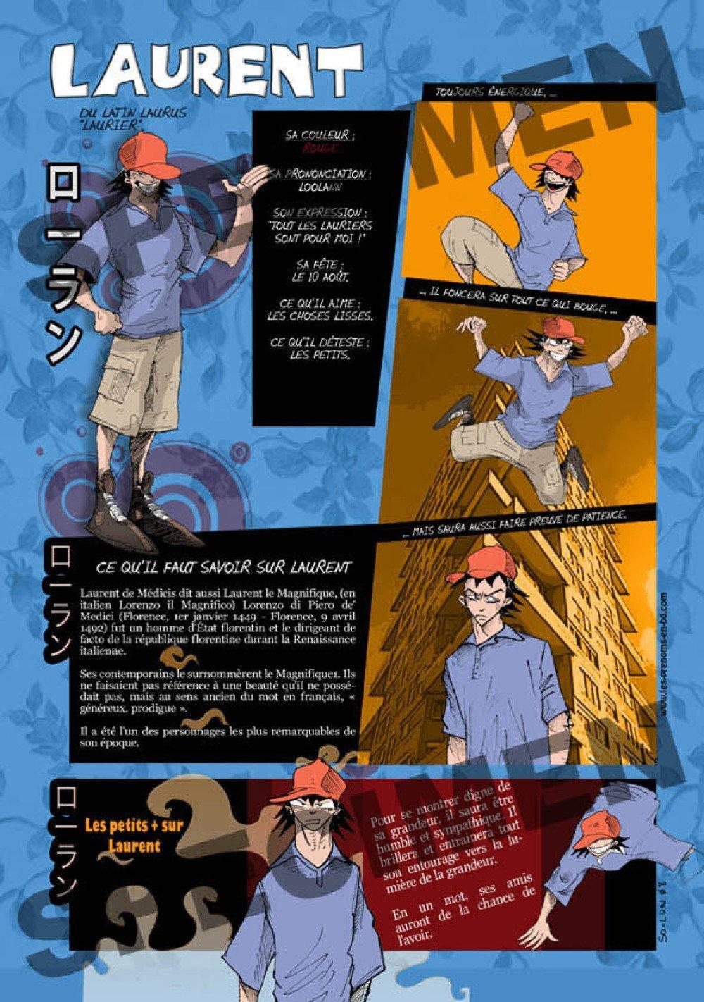 Prénom Manga Laurent