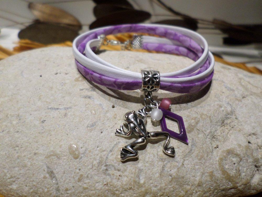 bracelet femme violet