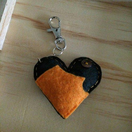 Cœur recyclé porte-clé