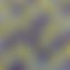 Tissu wax - par 50 centimètres - fleurs de mariage jaunes et violettes sur fond blanc - 100% coton - tissu africain - pagne