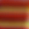 Tissu wax - zigzag jaune orangé, rouge bleu - par 50 centimètres - 100 % coton - tissu africain - pagne