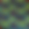 Tissu wax (par 50 cm * 116 cm) - grandes fleurs bleues et rouges sur feuillage vert - 100% coton - tissu africain - pagne