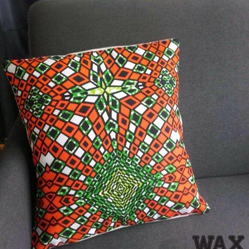 Commande de coussin en wax africain, 3 choix, wax&line