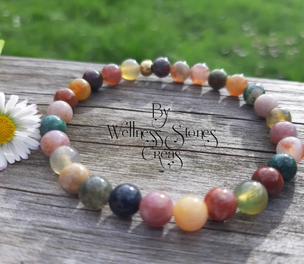 Bracelet en pierres naturelles  en agate indienne