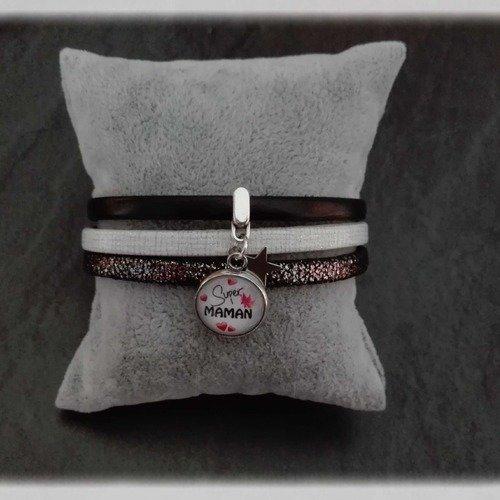 bracelet cuir 15 cm