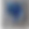 Tableau acrylique porte clés coeur bleu azur 20x20