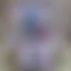 Carte de voeux en boite pop up 3d avec licornes