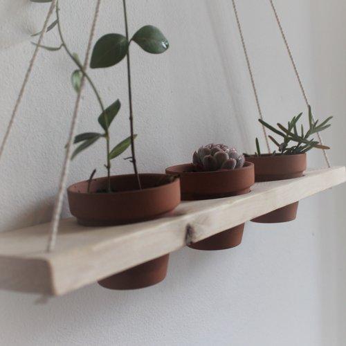 Étagère (+3 pots) suspendue plantes d intérieures (-- livrée avec ses 3 pots--)