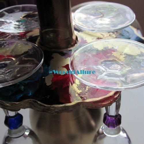 Support pour verre en résine à poser sur une bouteille