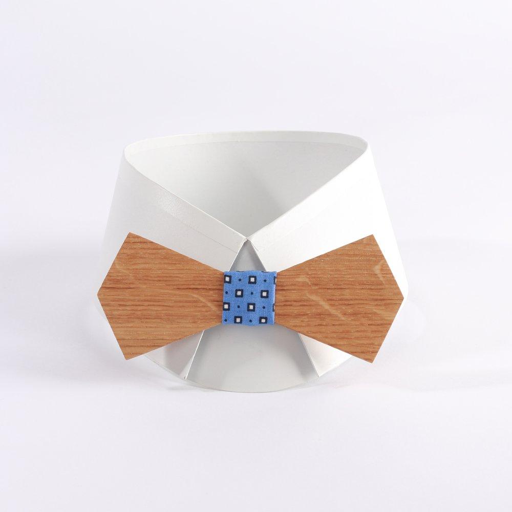SAINT HILAIRE LIVRAISON OFFERTE Noeud papillon en bois de chêne motif géométrique