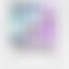 Images digitales cabochons ronds pois blanc bleu turquoise marine pois