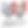 Images digitales cabochons bijoux mot infirmiere amour enfant turquoise rouge