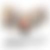 Images digitales cabochons bijoux fillette chat coeur beige fleur rose rouge