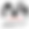 Images digitales numeriques cabochons verre bijoux chat black & white
