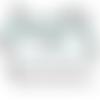 Médaillons digitales cabochons ronds et ovales *chats et fleurs bleues*