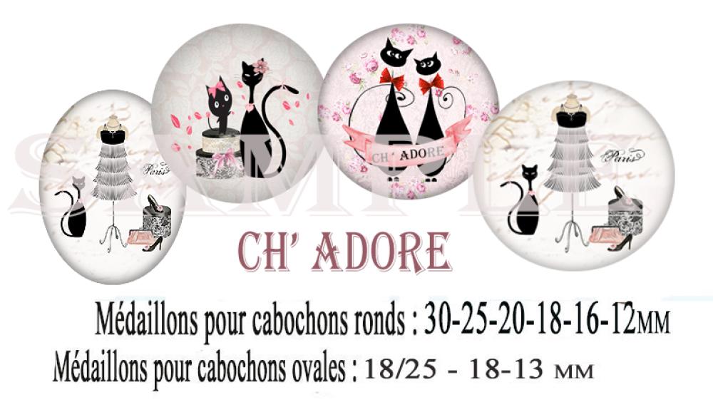 Images digitales numeriques cabochons verre bijoux CH'ADORE