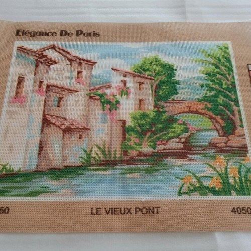 Canevas toile pénélope vieux pont ref 4050.63 élégance de paris