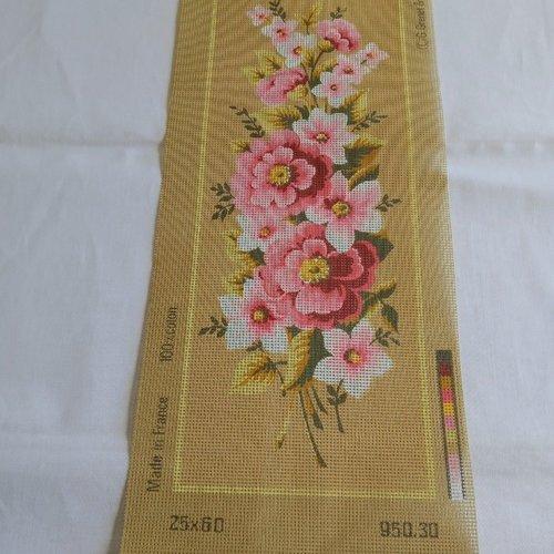 Canevas toile pénélope fleurs bouquet ref 950.30 seg de paris