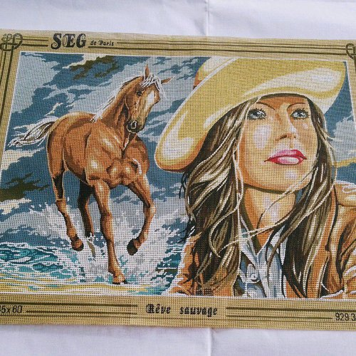 Canevas toile pénélope rêve sauvage cheval ref 929.360 seg de paris