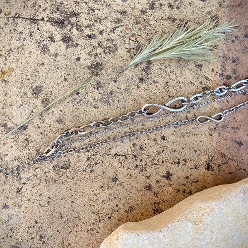 Bracelet 3 chaînes infini