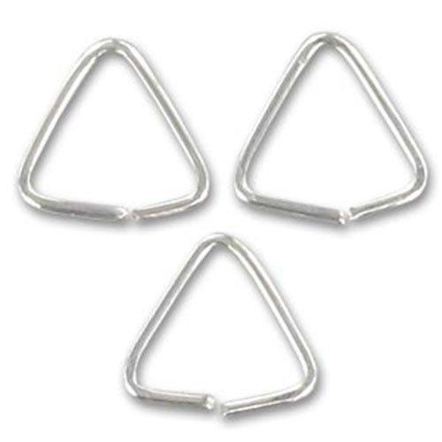 Lot de 20 anneaux de jonction triangulaires en argent sterling 925 5,5 mm