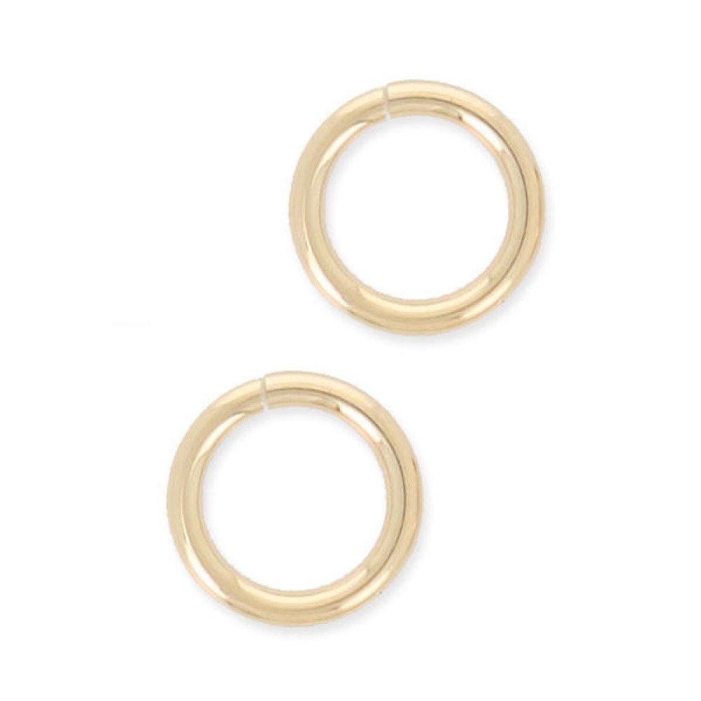 8 mm - Anneaux ronds plaqué or ouverts 8 mm x 1 mm Lot 3 anneaux de jonction