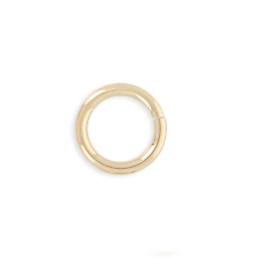 5 mm - Anneaux ronds plaqué or ouverts 5 mm x 1 mm Lot 4 anneaux de jonction