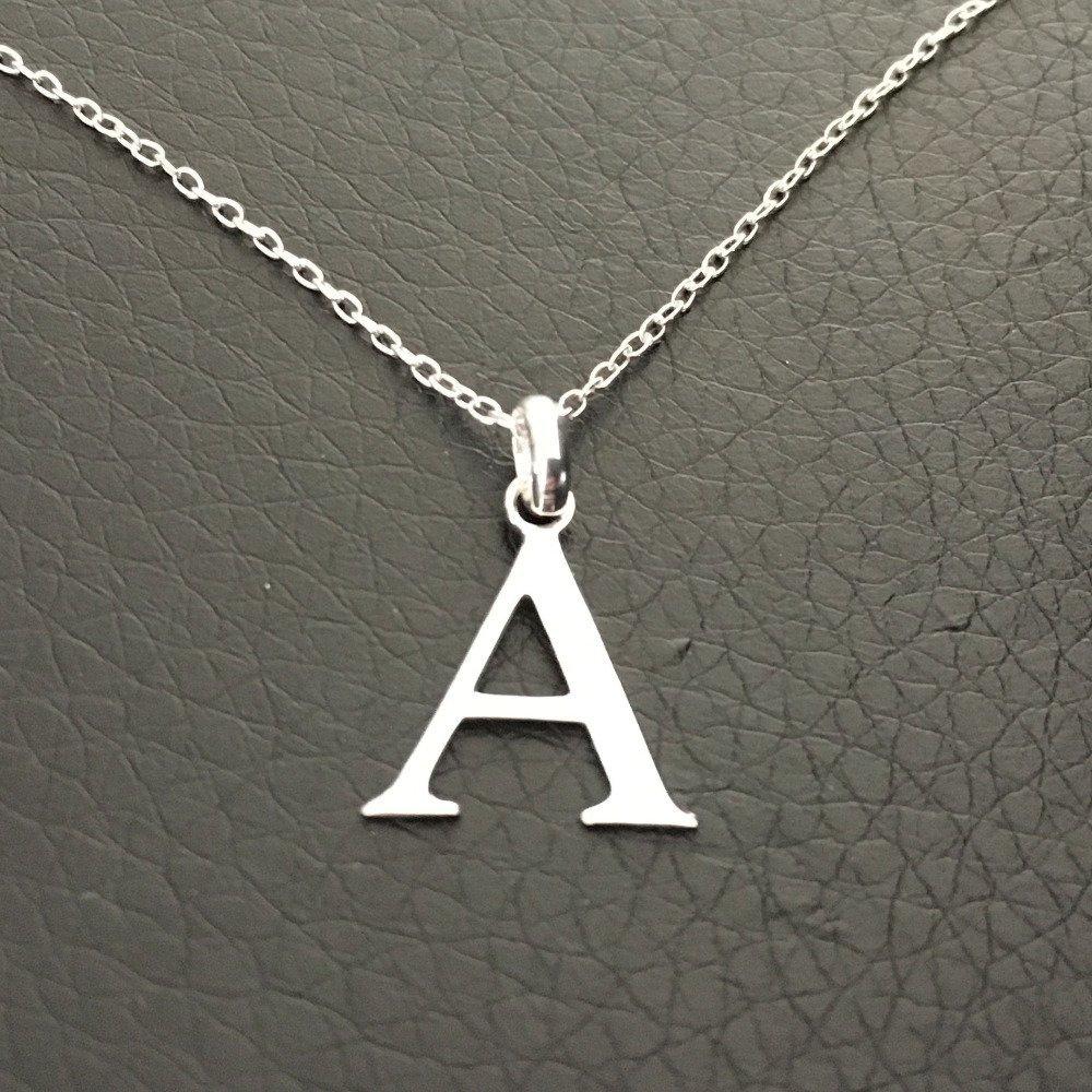 Collier initiale argent 925/000 pendentif lettre A sur fine chaine longueur 42 cm argent 925