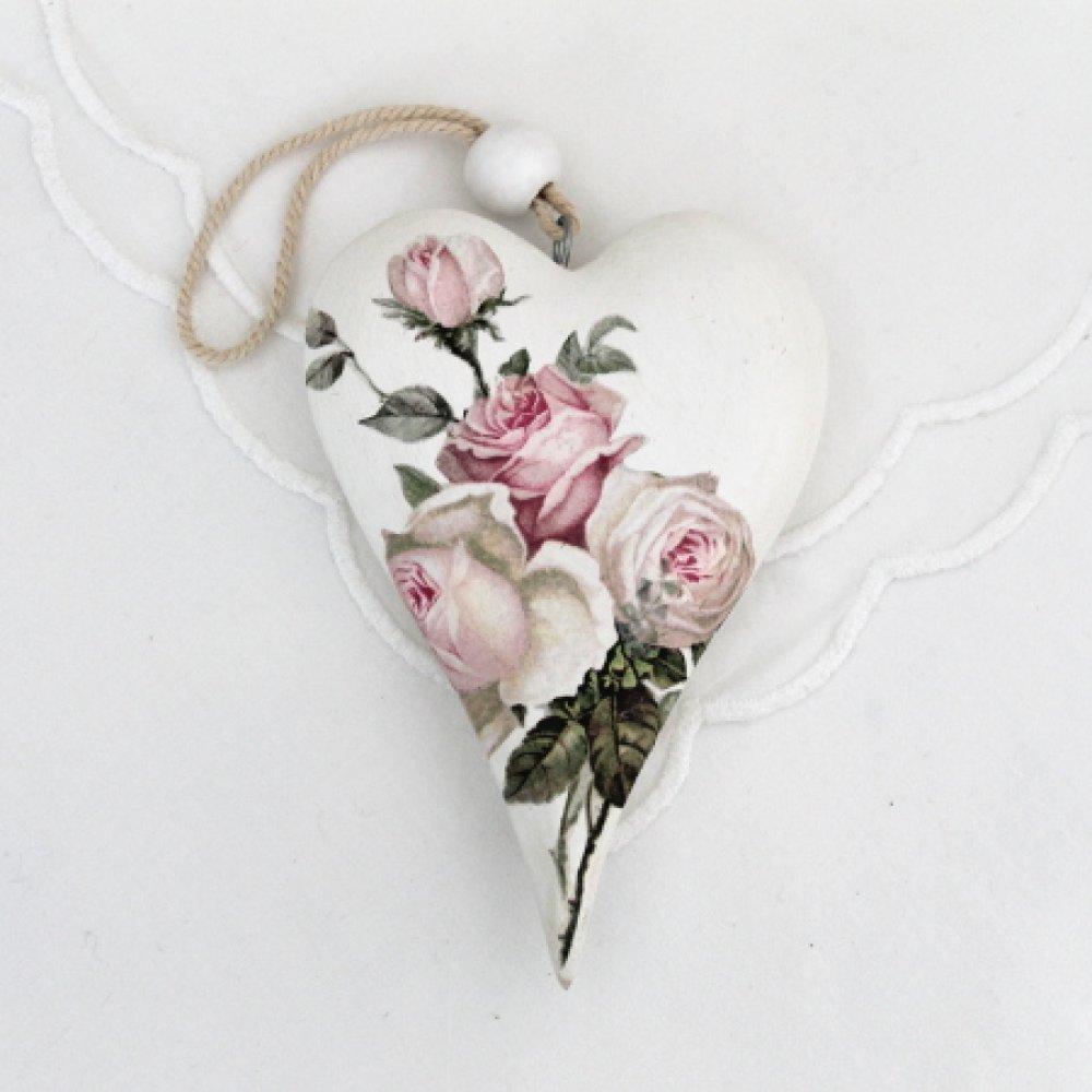 """coeurs en bois """" Des roses """""""
