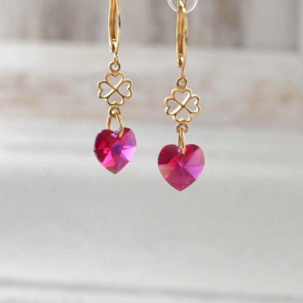 """Boucles d'oreilles """" Coeur """""""