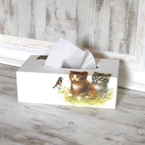 """Boîte à mouchoirs """" les chats """""""
