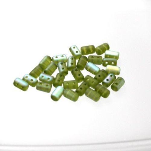 Fabrication de Bijoux Tchèque 6 mm Firepolish Vert Jade facette Perles Rondes x50