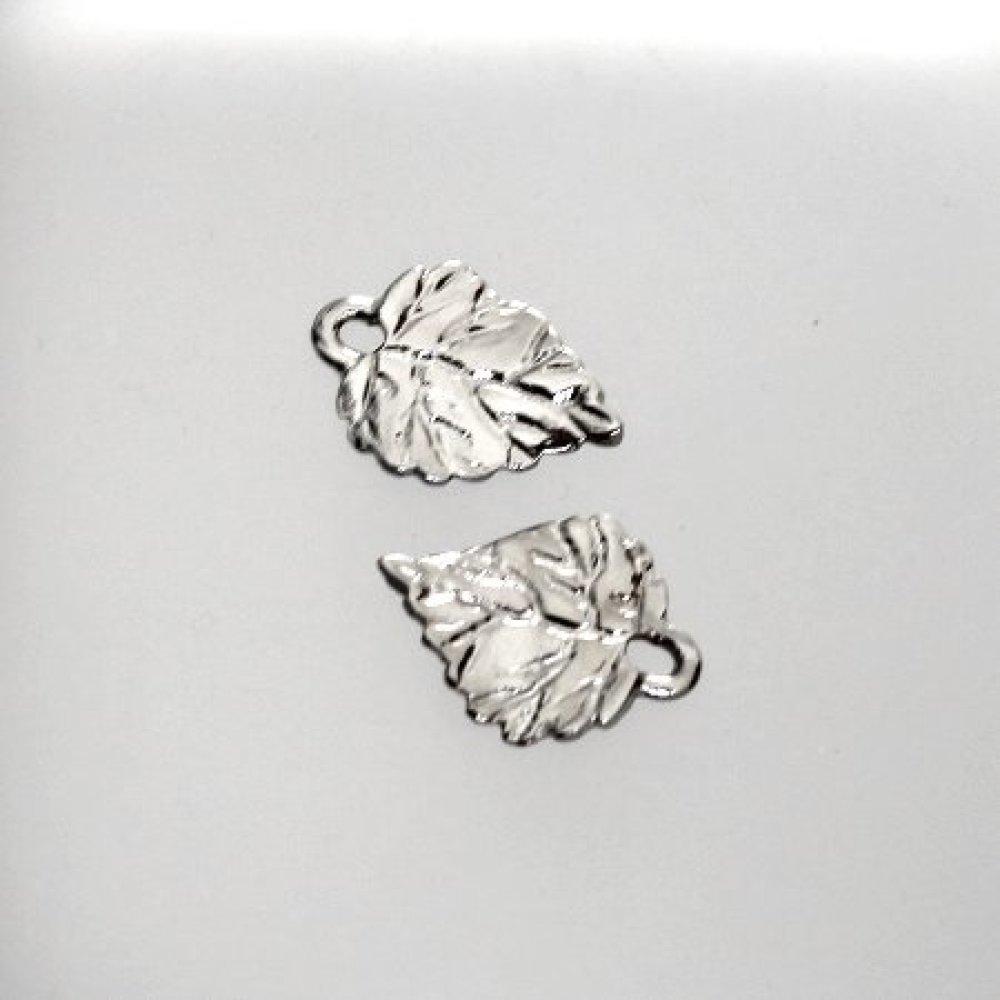 breloque feuille métal 4 pièces