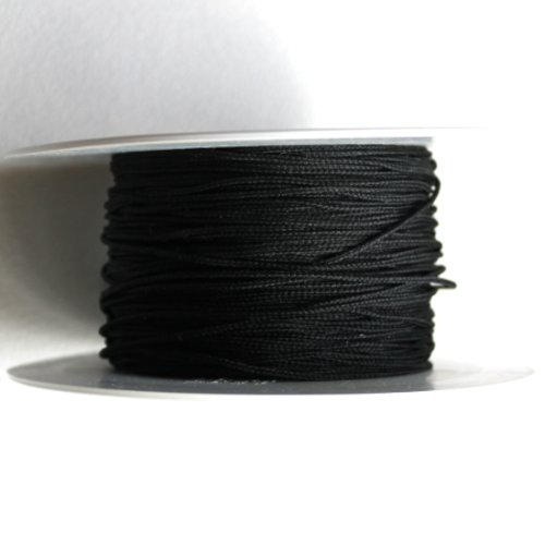 5 m fil nylon tressé 1 mm noir