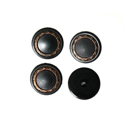 6 boutons ancienne synthétique et métal