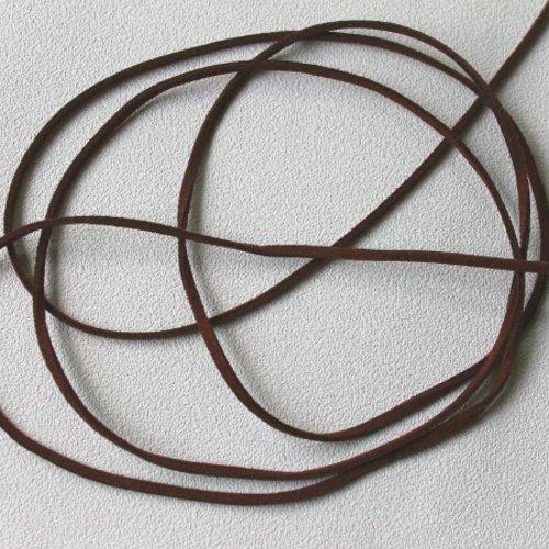 5 m suédine 3 mm x 1,3 mm marron foncé