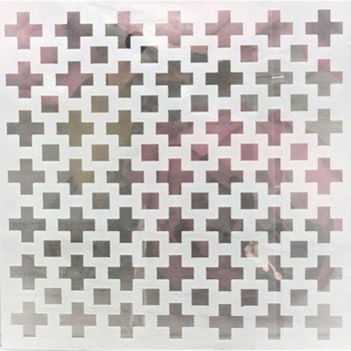 Pochoir plastique 13*13cm : croix (01)