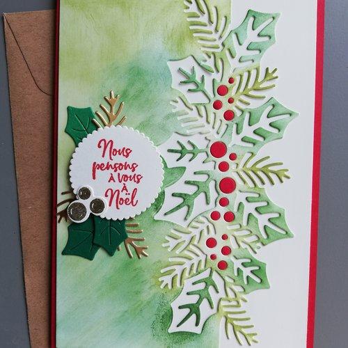 """Carte de vœux """"joyeux noël"""""""