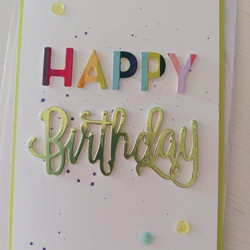 Carte d'anniversaire happy birthday
